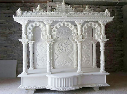 Marble Pooja Mantap in Bangalore | Divine Gallery